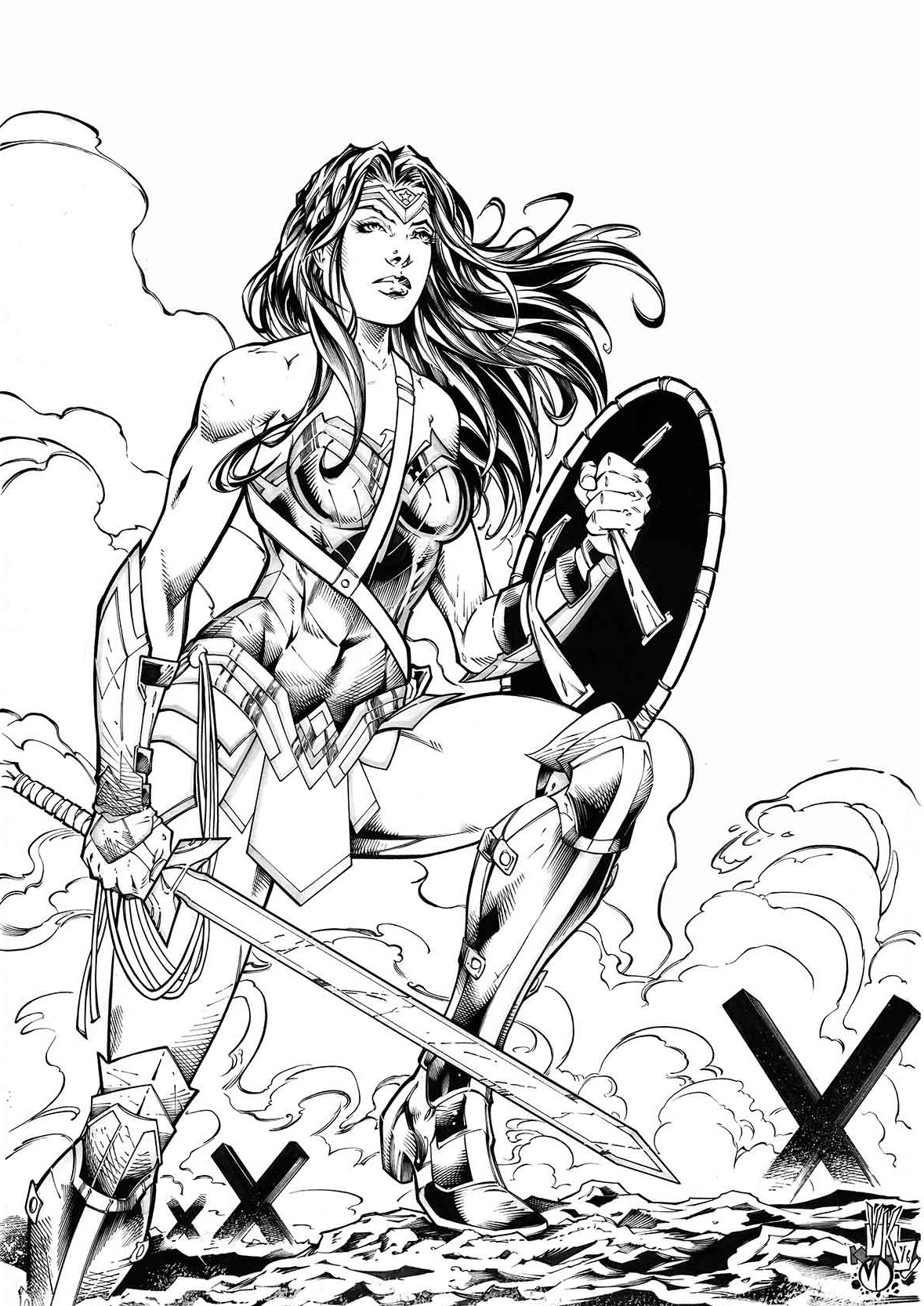Wonder Woman inks